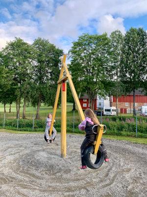 Stor lekepark hos Storsand Camping